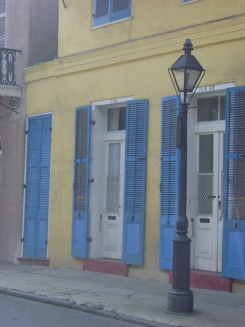 Blue shutters, yellow house. | Flickr - Photo Sharing!