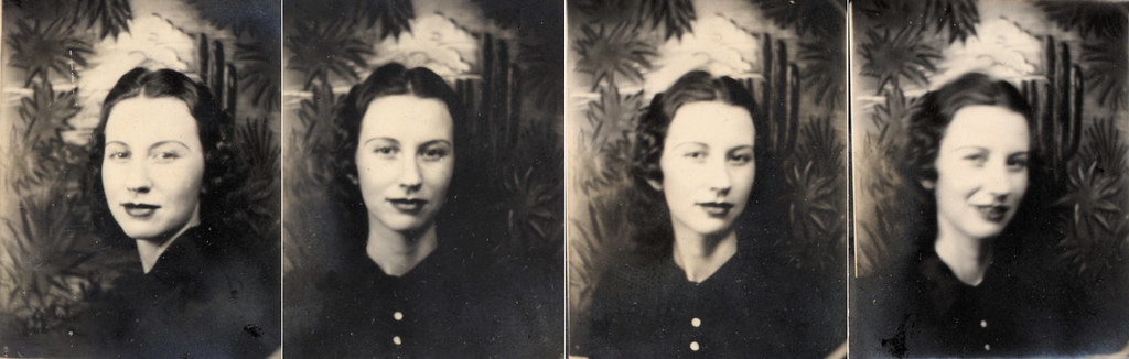 vintage photobooth photos: my grandmother