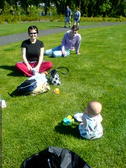 sequoia, rachel and toby in the park on memorial day…