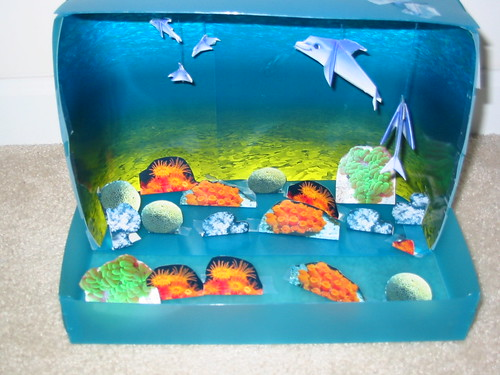 Paper Kids 10 Photos | Ocean Diorama - open for show! | 182
