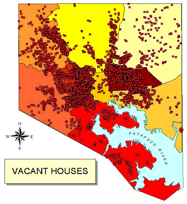 Map Of Vacant Houses In Baltimore  Flickr  Photo Sharing