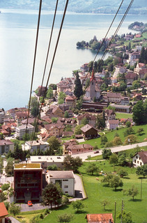 Approaching Weggis cable car station