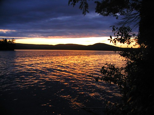 sunset usa lake nature geotagged pond maine geotoolyuancc jemweald geolat4456589 geolon69854593