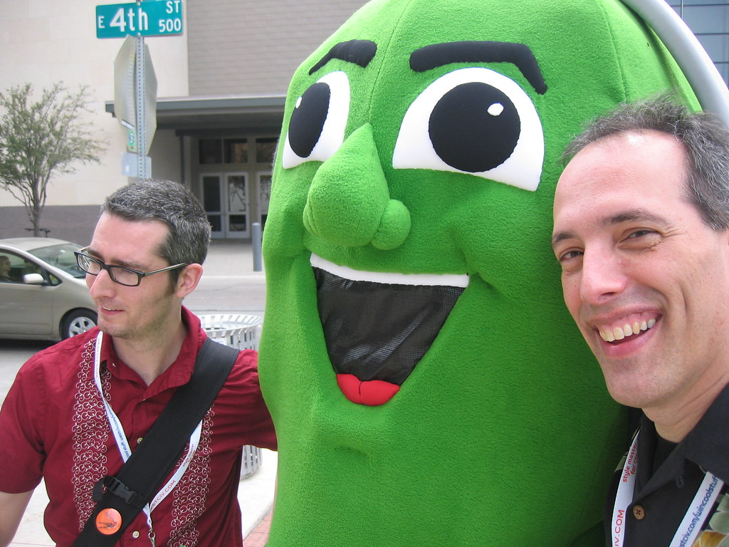 Podcast Pickle Party | Outside the SXSW convention center th… | Flickr