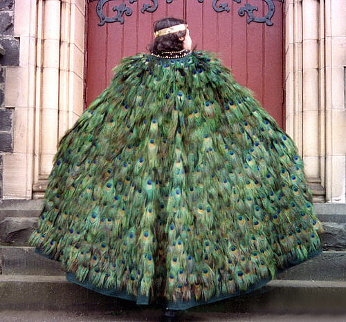 PEACOCK FEATHER CLOAK ONE