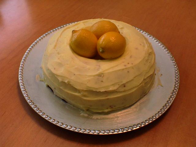 Lemon Birthday Cake Images