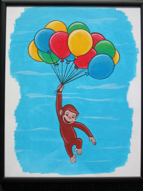 Curious George (Painted) - Balloons | Flickr - Photo Sharing!