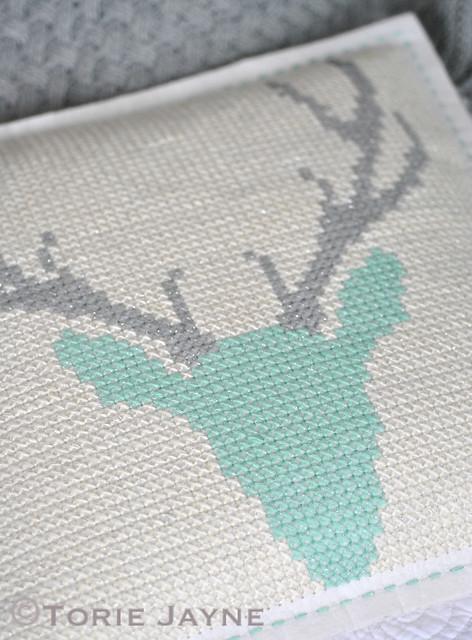 DIY cross stitch cushion 4