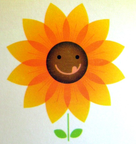 happy, slurpy sunflower
