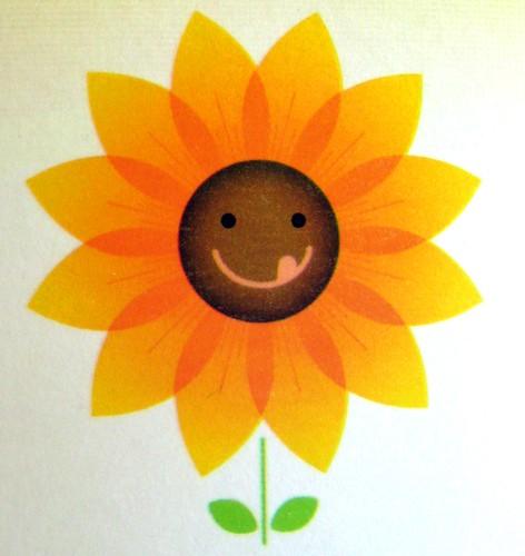 happy, slurpy sunflower