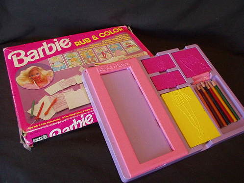 Barbie Fashion Plates Rubbing Fashion Plates For Girls