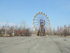 The famous ferris wheel in Pripyat