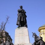 Statue of Lajos Kossuth, outside the Great Church, Debrecen