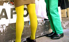 abdomen(0.0), clothing(1.0), yellow(1.0), trousers(1.0), leggings(1.0), limb(1.0), leg(1.0), thigh(1.0), tights(1.0),