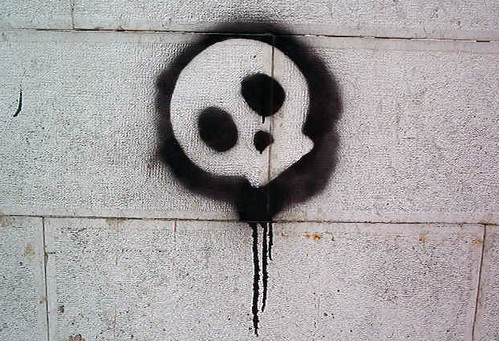 Graffiti Stencils Skull Skull Stencil in Bairro Alto