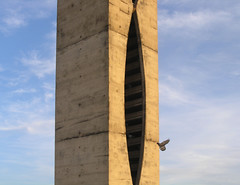 landmark, architecture, monolith, blue, tower, sky,