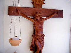 carving(1.0), art(1.0), religious item(1.0), symbol(1.0), wood(1.0), crucifix(1.0), cross(1.0),