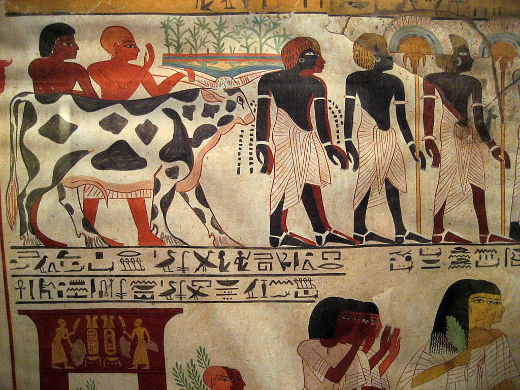 Egyptian wall paintings from the new kingdom a photo on for Egyptian mural art