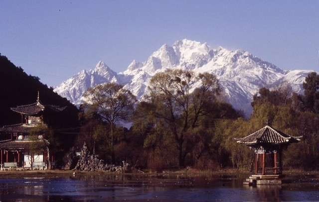 Mountain view from the village of Lijiang-Yunnan-China