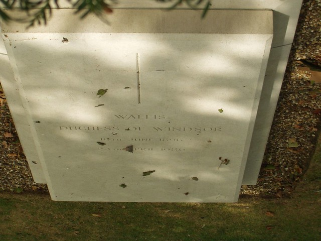 The grave of the Duchess of Windsor