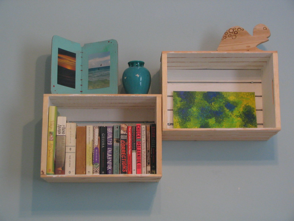 Wall Crates - Alternative Bookshelves