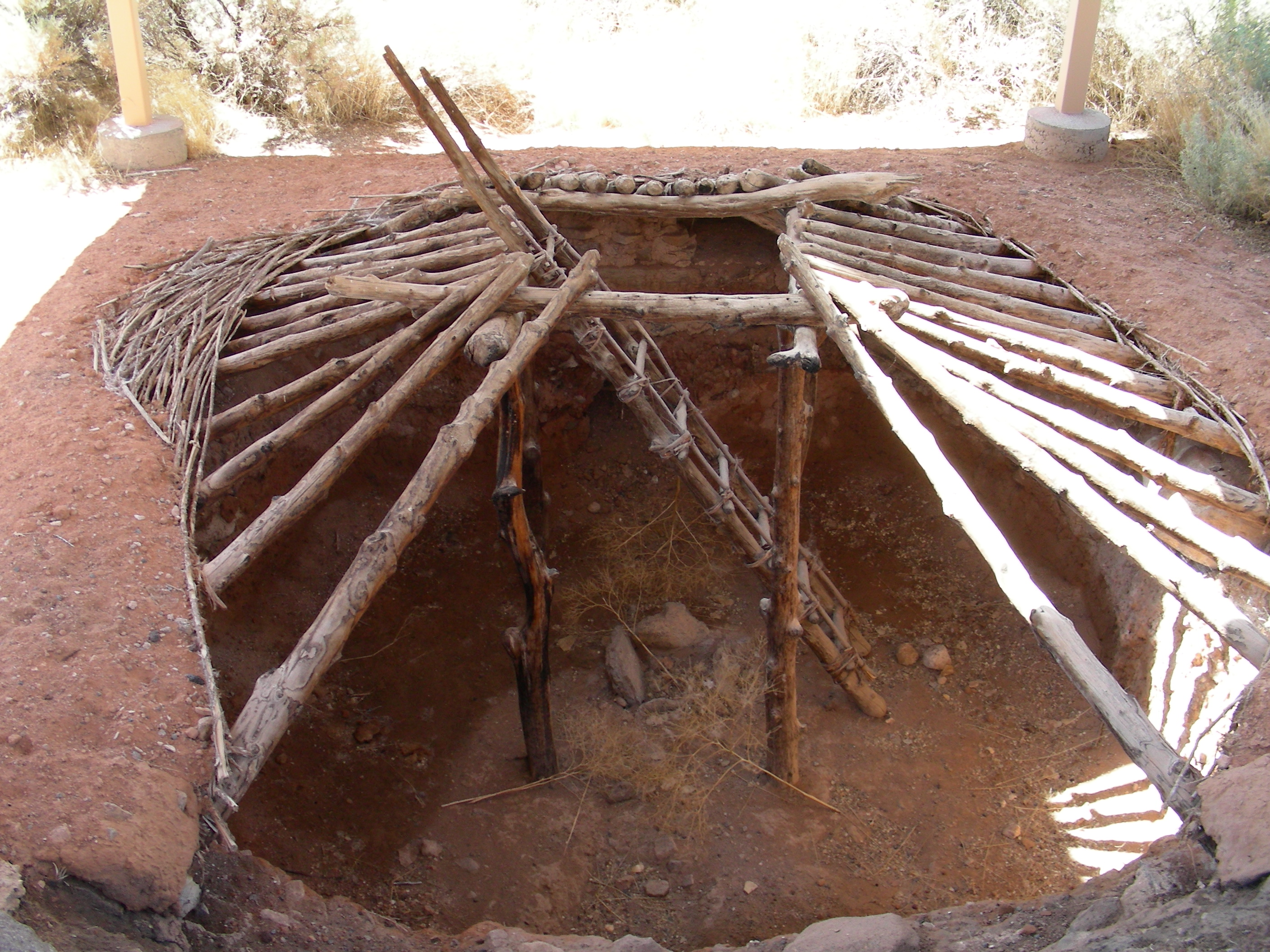 Native American Pit House Displaying (19) Galler...