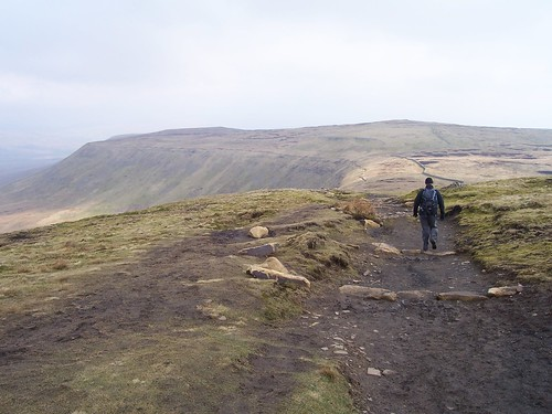 Leaving the summit of Ingleborough