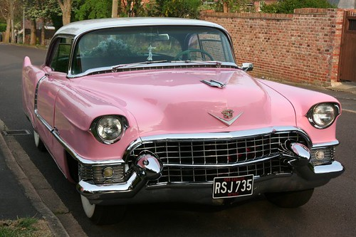 1955 Cadillac 2-Door Coupe in Pink