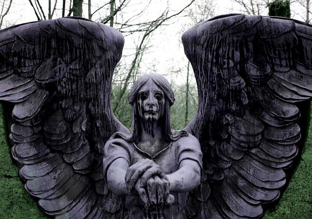 scary image of angel - photo #18