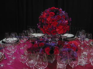 pinky purpley table setting