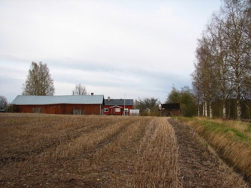 field barn evening ditch shed greenhouse penttilänmäki