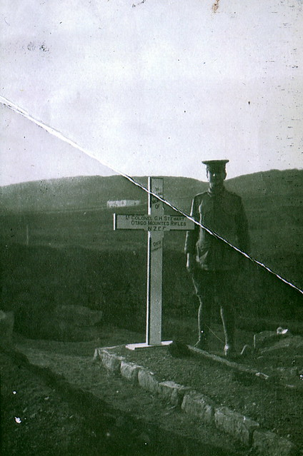 The grave of Colonel George Hepburn Stewart, Otago Mounted Rifles. (Died 20 November 1915, buried at Lemnos.)