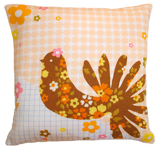 clare nicolson pretty peacock cushion