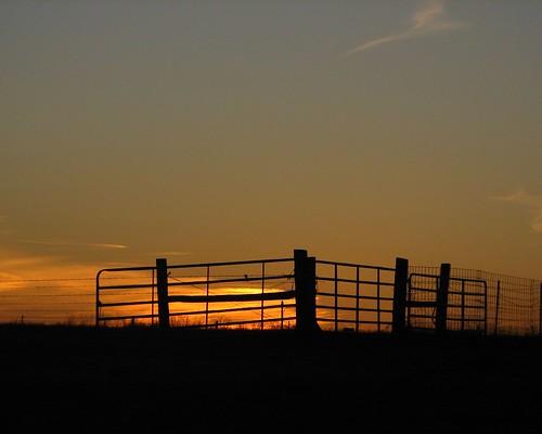 grandma sunset fence midwest gate farm grandpa dent missouri ozarks medlock flickrbronze