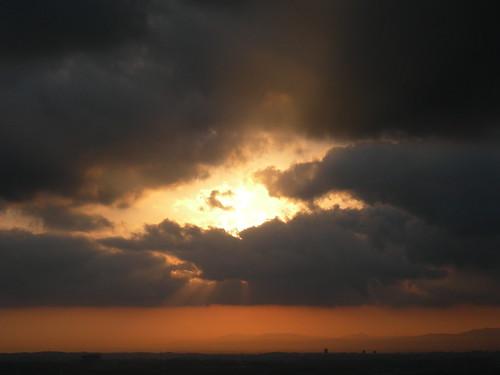 sunrise dark amanecer