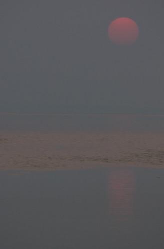 sunset sky nature haze smoke sigma70300mmapodgmacro pentaxk10d lakeapopka