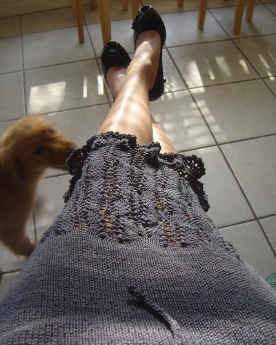 Indigo Ripples Skirt