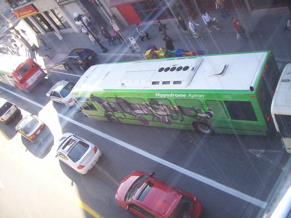 An STO Nova Bus advertising the Aylmer Hippodrome...