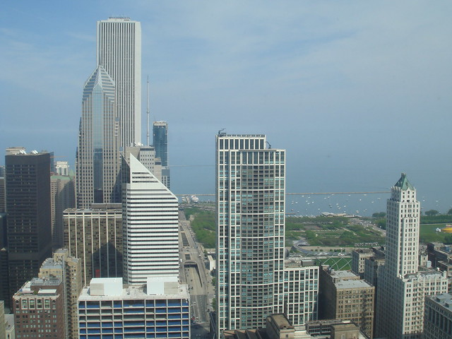 Downtown Chicago Skyline from 49th Floor