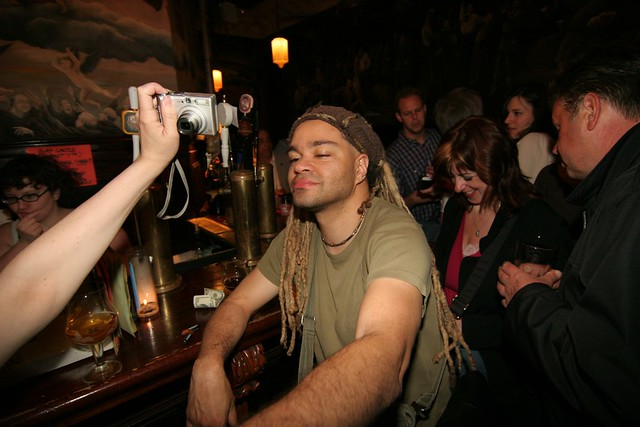 Vlogger drinks in NYC