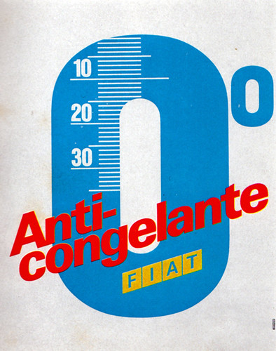 1960s Advertising - Poster - Fiat Anticongelante (Italy)