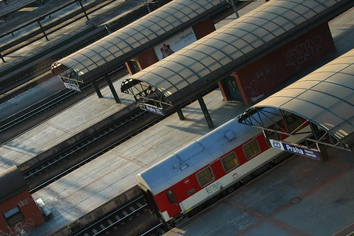 Trains at the Main Station - Prague, Czech Republic