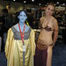 Slave Leia, with, uh... blue? Friend?