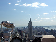 Rockefeller Center - view towards lower Manhattan from the Top of the Rock viewing area