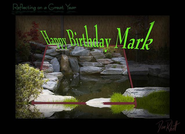 Happy Birthday Mark On The Cake