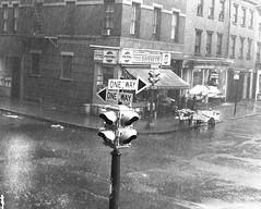 Greenwich Village thunderstorm, 1969
