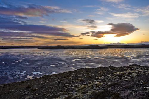 sunset sky sun geotagged iceland raw skies nef lightroom sól ský himinn sólarlag borgarnes mýrar geo:lat=64549806337612 geo:lon=2191200358891875