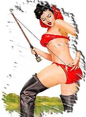 Women Fishing Vintage Fishing Sexy Fishing Piece