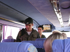 Soldiers board bus to check Fahed's passport_1770