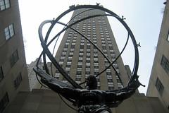 NYC - Rockefeller Center: Atlas & GE Building